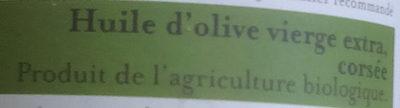 Huile d'olive corsée - Ingrédients - fr