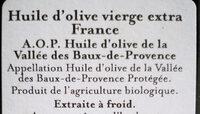 Huile Olive Aop France 50CL - Ingrediënten - fr