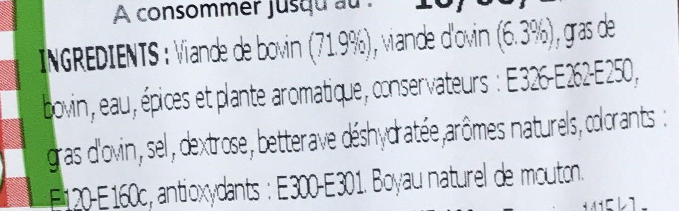 Véritables merguez étuvées - Ingrédients - fr