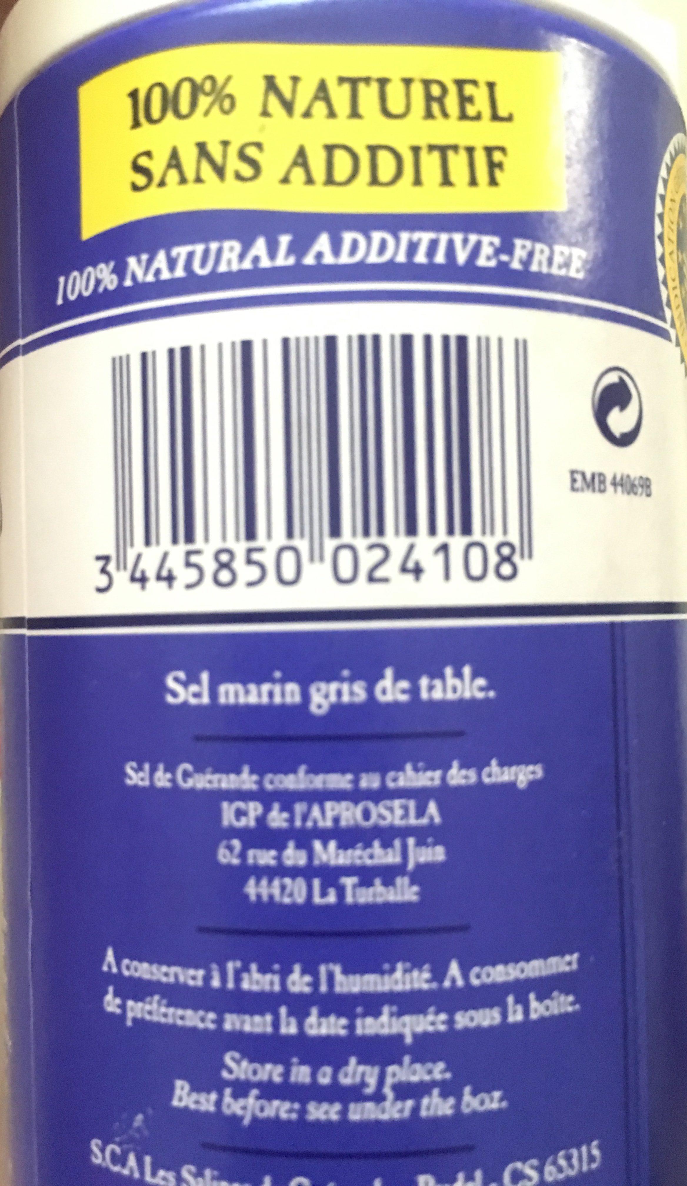 Sel de Guérande - Ingredienti - fr