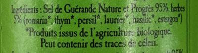 Sel de Guérande aux herbes bio - Ingrediënten