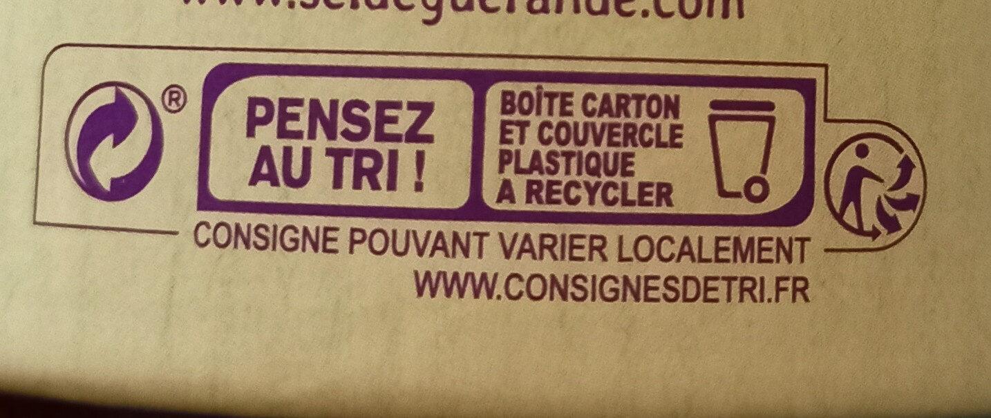 Fleur de sel de Guerande - Instruction de recyclage et/ou informations d'emballage - fr