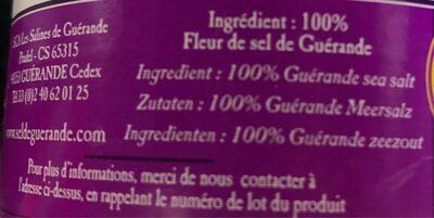 Fleur de sel de Guerandes - Ingredients - fr