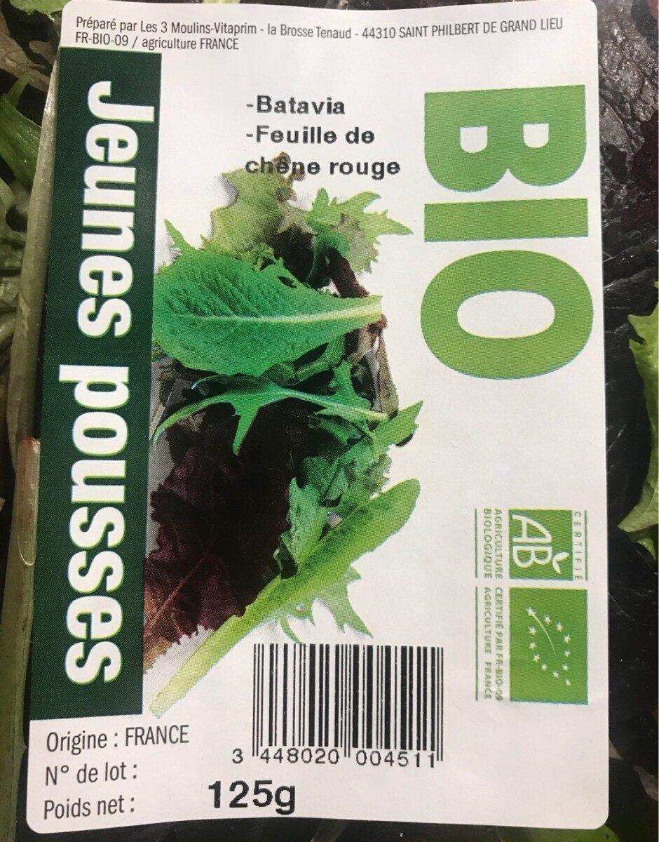 Salade jeunes pousses - Informations nutritionnelles