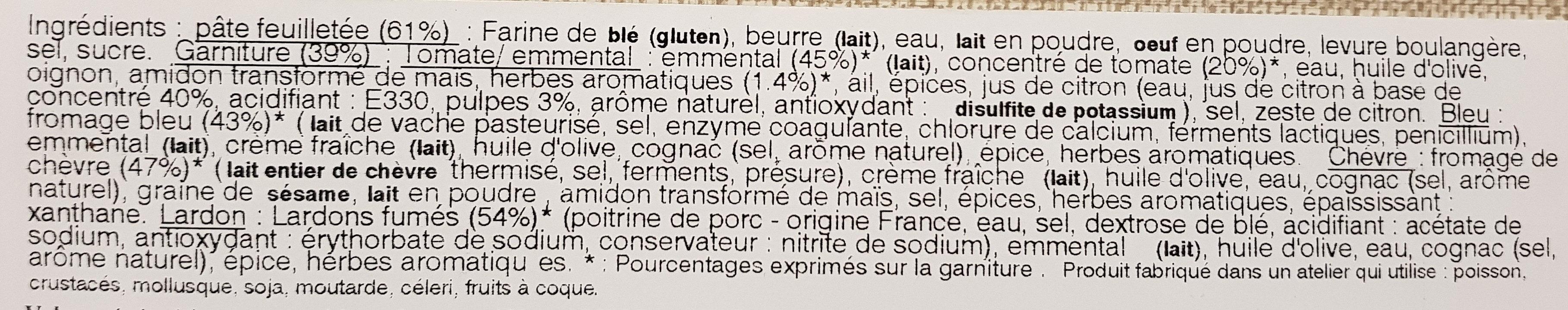 Feuilletés apéritifs assortis - Ingredients - fr