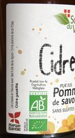 Cidre doux pur jus pommes de Savoie - Ingredients