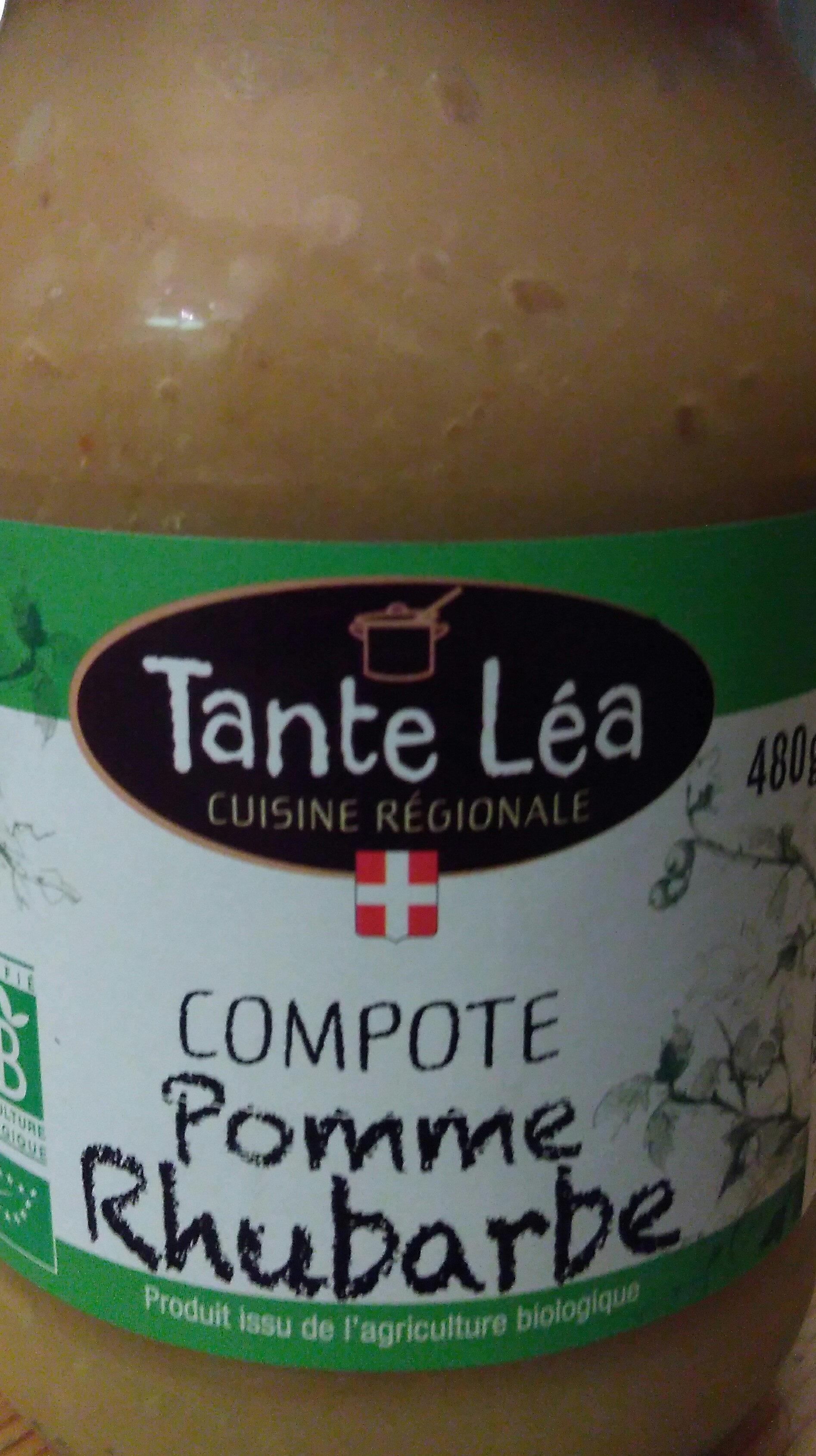 Compote pomme rhubarbe bio - Produit - fr