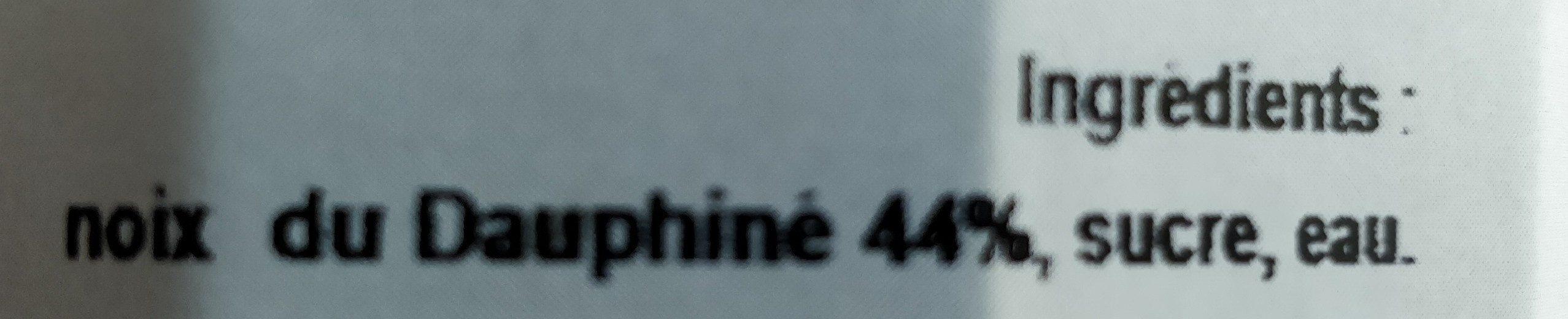 Douceur de noix du Dauphiné - Ingredients