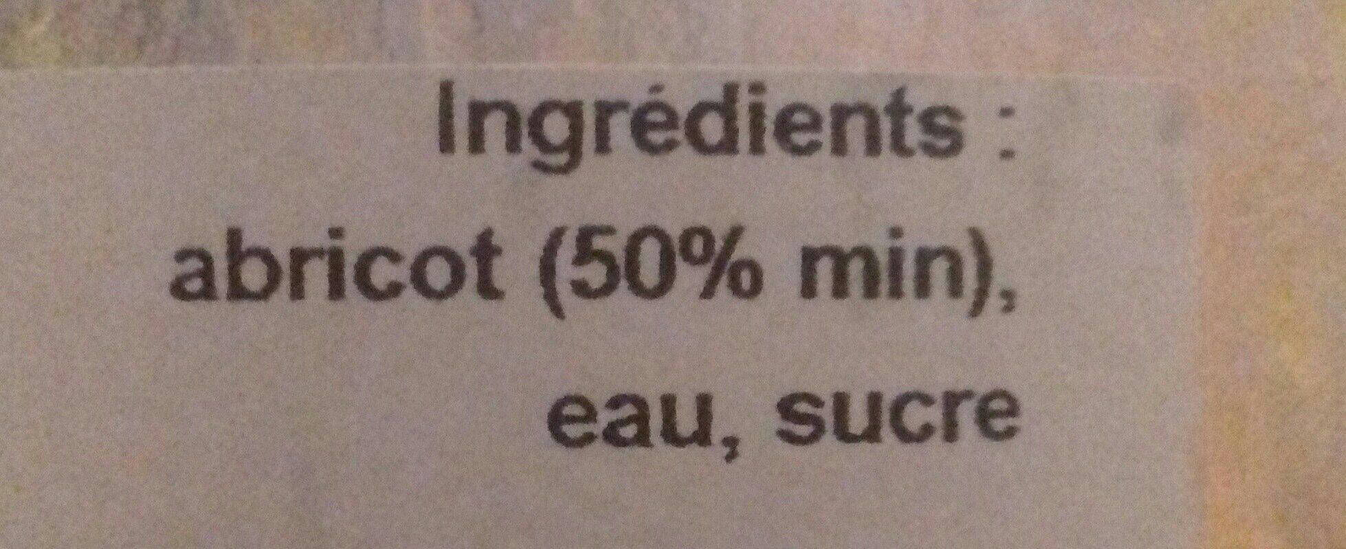 Nectar Abricot - Ingredients