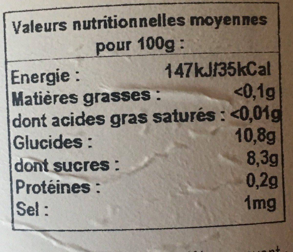 Pur Jus Orange - Nutrition facts