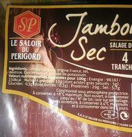 Jambon sec - Informations nutritionnelles - fr