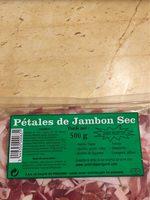 Pétales De Jambon Sec - Produit - fr