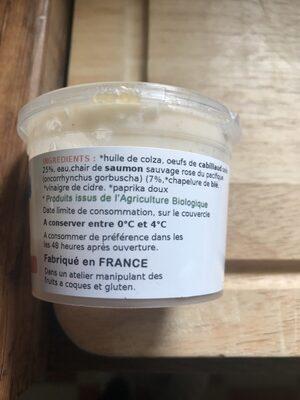 110G Tarama De Saumon - Ingredients - fr