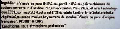 Chipolatas aux Herbes - Ingrediënten