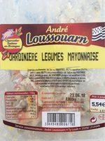 Jardinière de legumes mayonnaise - Nutrition facts - fr