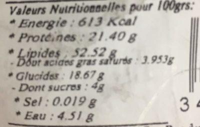 Amandes Décortiquées - Nutrition facts - fr