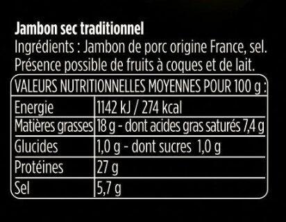 Les Fines et Fondantes - Ingrédients - fr