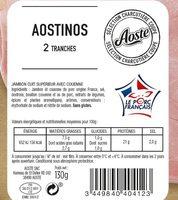 Aostinos - 2 Tranches - Ingredienti - fr