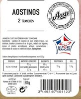 Aostinos - 2 Tranches - Valori nutrizionali - fr
