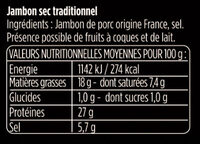 Les Grandes Tranches - Ingrediënten - fr