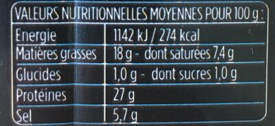 Les - Voedingswaarden - fr
