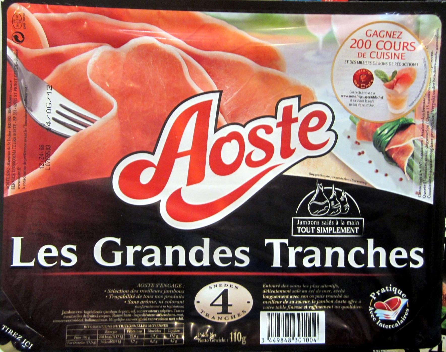 Les Grandes Tranches - Jambon cru - Prodotto - fr
