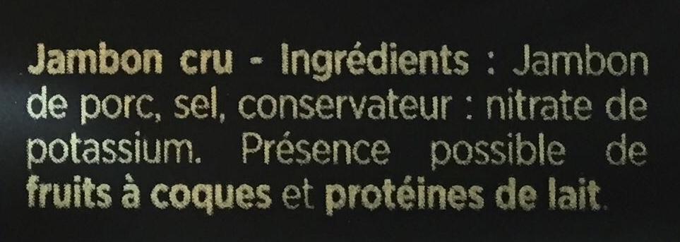 Les Grandes Tranches - Jambon cru - Ingredienti - fr