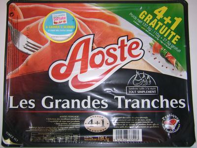 Les grandes tranches 4 +1 tranche gratuite de jambon cru - Produit - fr