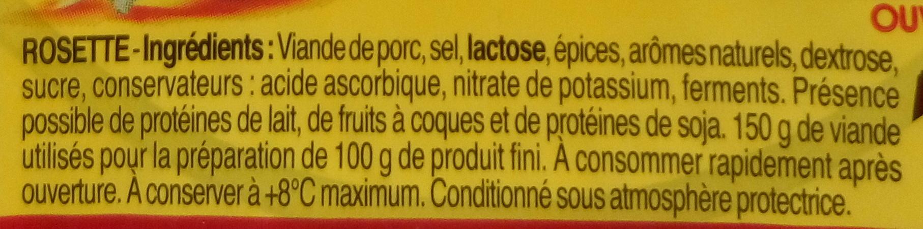 Les p'tites tranches Rosette - Ingrediënten - fr