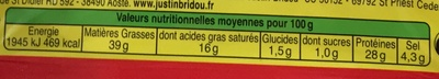 Rondelles de Bâton de berger - Nutrition facts