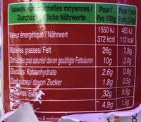 Le Bâton de Berger Brut Ferme & Corsé - Informations nutritionnelles