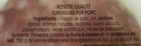 Les Belles Tranches Rosette - Ingredienti - fr
