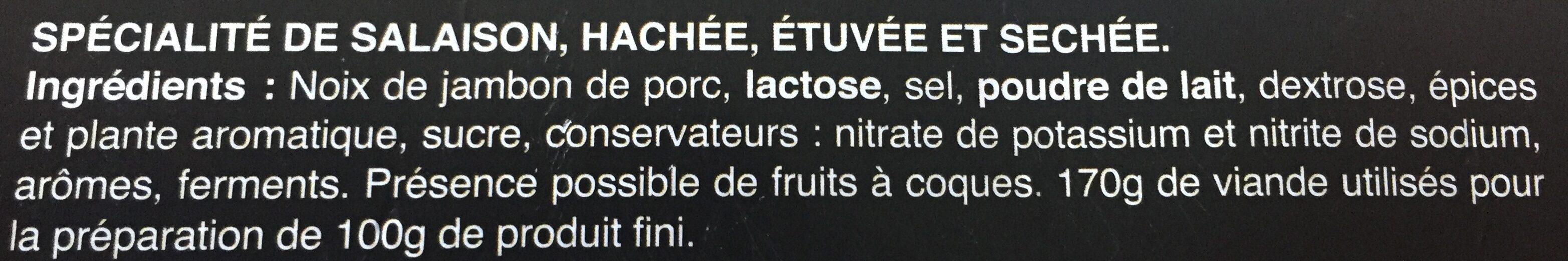 Just' un délice - Ingrediënten - fr