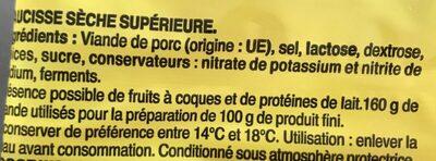 La Juste Sèche pur porc - Ingredientes - fr
