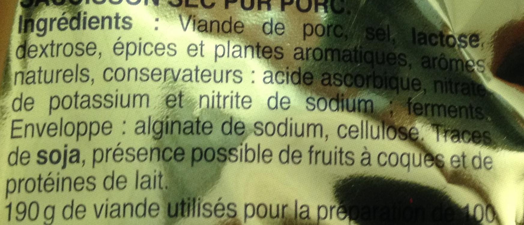 Bâton de Berger Mini Nature (environ 8 Bâtonnets) - Ingrediënten - fr