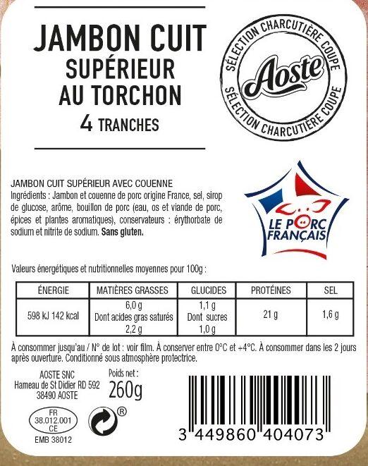 Jambon supérieur - Ingrédients - fr