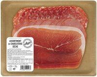 Assortiment de charcuterie sèche Aoste (Jambon cru 4 Tr, Rosette 6 Tr, Bacon fumé 6Tr) - Produit - fr