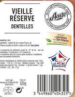 Dentelles de jambon cru Vieille Réserve Aoste - Ingredienti - fr