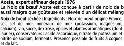 Noix de bœuf - Aoste - Ingredients