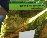 PETIT SOS - Informação nutricional - fr