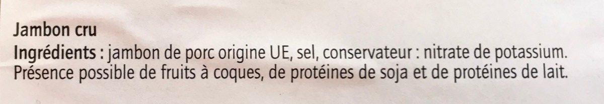 Jambon cru aoste - Ingredienti - fr