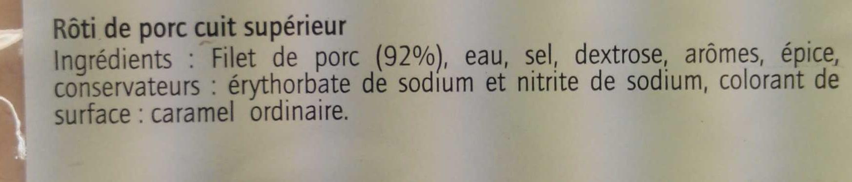 Rôti de Porc - Ingrédients