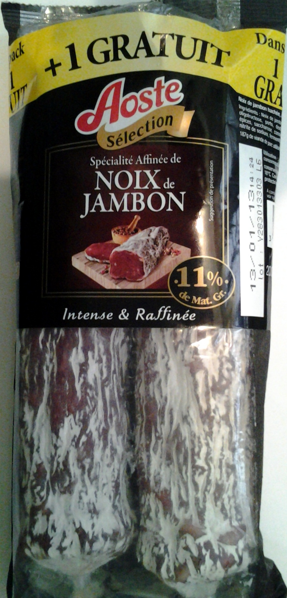 saucisson noix de jambon aoste 400 g 200 g 200 g. Black Bedroom Furniture Sets. Home Design Ideas