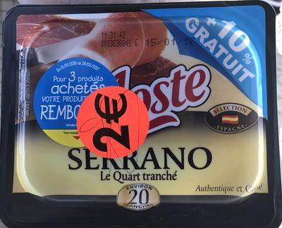 Serrano Le Quart tranché (+10% gratuit) - Produit