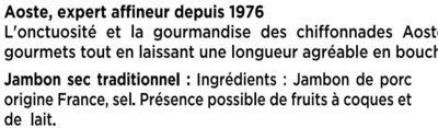 Les Chiffonnades - Aoste - Ingrédients - fr