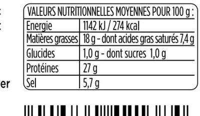 Les Chiffonnades - Aoste - Informations nutritionnelles - fr