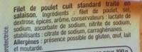 Filet de Poulet petites tranches pratiques - Ingrédients