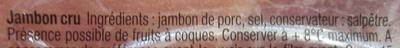 Quart Pré-Tranché - Ingrediënten