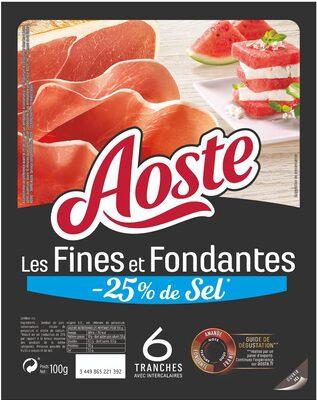 Les Fines et Fondantes -25% de sel - Aoste - Produit - fr