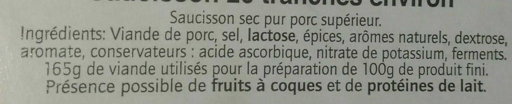 Saucisson 26 tranches - Ingredienti - fr